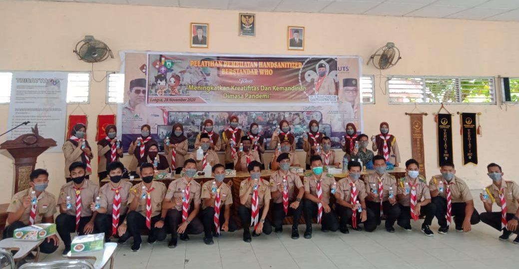 Dosen MIPA Kimia Unsam Isi Pelatihan Wirausaha untuk Penegak Pramuka Kota Langsa : Pembuatan Hand Sanitizer Berstandar WHO